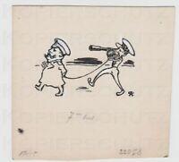 Zeichnung für die JUGEND 1917 caricature General Douglas Haig Arpad Schmidhammer