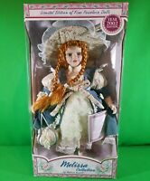 "Melissa Collection by Melissa Vastelli 2002 Porcelain Doll 16"" Tall Red Hair"