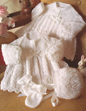 """Yoked/Raglan Sleeve Baby Jackets Bonnet Mitts ~ 2 & 3 ply ~  18""""- 24"""" To Knit"""
