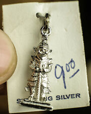 VINTAGE.925 STERLING SILVER TEMPLE GUARD WARRIOR SOLDIER AZTEC  3D OLD  CHARM