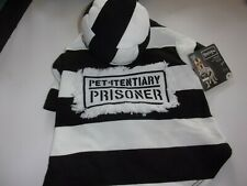 PET-ITENTIARY prisoner Dog Costume S L Halloween new pet Bootique small large