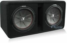"Kicker CompR DCWR122 Loaded 1000W RMS Dual 12"" Vented Subwoofer Enclosure Box"
