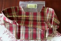 Longaberger Picnic Tote Orchard Park Plaid Over Edge Basket Liner New In Package