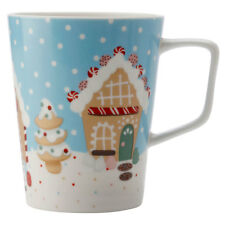 Maxwell & Williams 450ml Gingerbread Road Mug/Cup/Glass Hot Cold Coffee/Tea Blue
