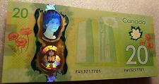 2015 Canada $20 Queen Elizabeth II Historic Reign Commemorative Polymer Note UNC