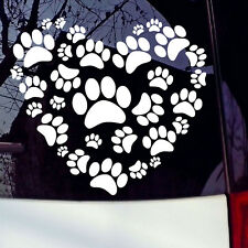 Dog Paw Print On Your Heart Car Sticker Decals Dog Paw Auto Styling Door Window