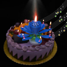 MUSICAL LOTUS FLOWER HAPPY BIRTHDAY CANDLE PARTY BIRTHDAY GIFT PRESENT