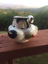 1993 Pepe Le Pew with Rose Warner Bros Coffee Chocolate Tea Mug USED