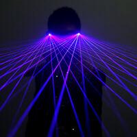Blue LED Light Laser Glasses Lighting Music Bar Stage Show DJ Club Party Dancer