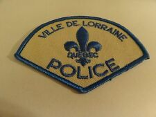 LAW ENFORCEMENT PATCH POLICE VILLE DE LORRAINE QUEBEC POLICE