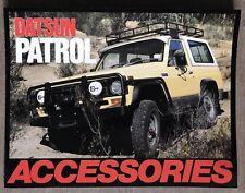 1981 Datsun Patrol Accessories original Australian sales brochure