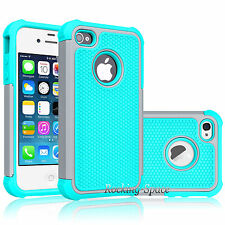 Heavy Duty Best Impact Protective Hard Matte Case Cover for iPhone 4G 4S + Film