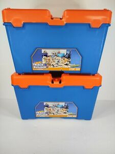 Hot Wheels Track Builder Stunt Box Lot of Two 50+ Pieces