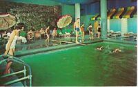 Postcard NY Concord Hotel Catskills Chrome Interior Pool VTG Swimsuits Diving