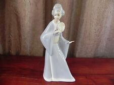 Miquel Requena Valencia Spain Porcelain Japanese Lady With Fan Figurine