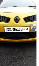 Renault Megane Mk2 2000-2008,R26/225 FRONT&REAR Diamond Badge covers GLOSS BLACK