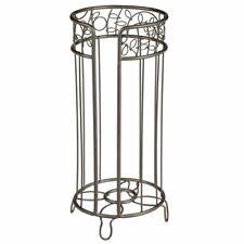 mDesign Decorative Metal Toilet Paper Storage Holder Stand, 3 Rolls - Bronze