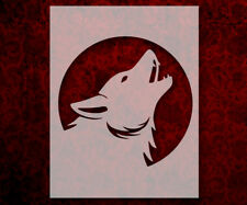 """Howling Wolf Moon 8.5"""" x 11"""" Stencil FAST FREE SHIPPING (552)"""