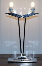 MLE CONTEMPORARY TABLE LAMP RRP £560 THREE STEP CHROME BASE CONTEMPORARY STYLING