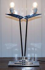 Lampada da tavolo MLE contemporanea RRP £ 560 tre gradini base cromata stile contemporaneo