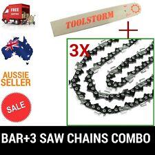 22'' CHAINSAW BAR AND 3 CHAINS FOR MTM 72SX BAUMR-AG SX75 CHAINSAW .325 058 86DL