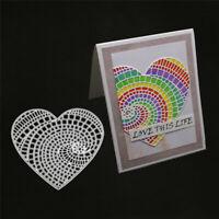 Stanzschablone Herz Liebe Strude Hochzeit Weihnachts Geburtstag Karte Album Deko