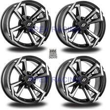 "(4) Sedona Riot Wheels Rims 12"" 4 Wheel Front Rear Kit Polaris RZR 900 XP 08-14"
