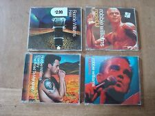 4 X ROBBIE WILLIAMS CD SINGLES-  SUPREME, ROCK DJ, FEEL, ETERNITY, ETC.