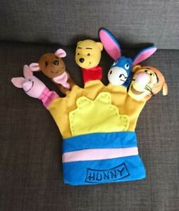 Novelty Winnie The Pooh & Friends Glove Individual Finger Puppets In One Glove