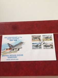 British Indian Ocean Territory 1998 FDC Anniversary Of The Royal Air Force