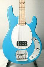 Stellar Neptune 003 Elite 4 String Electric Bass Guitar - Maya Blue w/Case