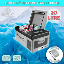 Alpicool 20L Portable Compressor Fridge Freezer Car Caravan Boat Cooler Box DC12