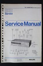 Philips Ta 22AH794 Amplificateur Original Manuels de