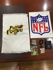 Rare 1996 NFL Draft Day Kit- 2 Pins, Card, Radio, Towel and Folder with handouts