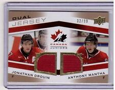 JONATHAN DROUIN ANTHONY MANTHA /15 Team Canada Juniors GOLD /99 Jersey Rookie SP