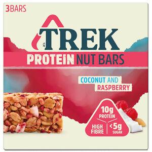 Trek Protein Nut Bars Gluten Free No Added Sugar Vegan Low Sugar 3 x 40g