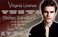 Stefan Salvatore aka Paul Wesley  the VAMPIRE DIARIES Drivers License
