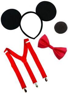 Fancy Dress 4 Piece Set Adults Children's Mickey Mouse Book Week Character Fun