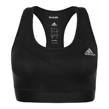 Adidas Tech Fit Sports Bra Womens AJ2172 Black Climacool Racerback Bra Size L