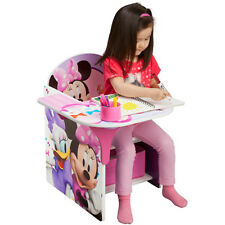 Minnie Mouse Furniture Disney Kids Chair w/ Desk Toddler Activity Homework Desk