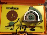 Vintage Ideal Power Mite Power Tool Toy Circular Saw