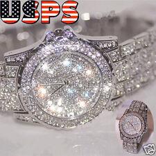 Luxury Women Watch Rhinestone Ceramic Crystal Quartz Watch Analog Dress Watch US