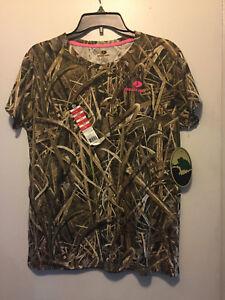 Mossy Oak Brush Women's/Ladies Camo Short Sleeve  T-Shirts: Large NWT's