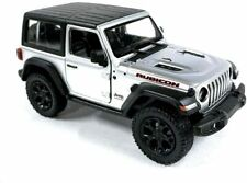 "5"" Kinsmart 2018 Jeep Wrangler Rubicon SILVER Diecast Model Toy  Car 1:34 Scale"