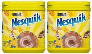 NESTLE NESQUIK MILKSHAKE POWDER STRAWBERRY and CHOCOLATE DRINK 500g x 2 tubs