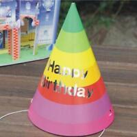 10Pcs Party Cone Hats Happy Birthday Celebration Colorful Kids Hat
