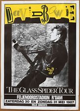 David Bowie  The Glass Spider Tour  Vintage Original Dutch Poster  May 30 1987