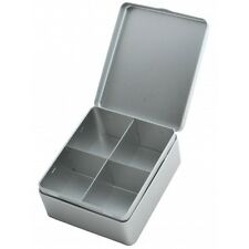 Silver Teabag Display Box 4 Compartment - Empty