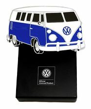 Volkswagen Belt Buckle VW Camper - Blue & White - Authentic Officially Licensed