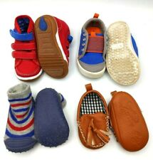 4 Pairs Boys Baby Shoes Capelli Stride Rite Garanimals Sneakers Moccasin Slipper